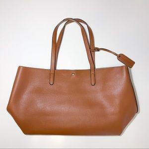 Zeda Vegan Leather Tan Tote